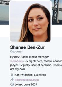 Sample Twitter Bio