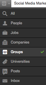 Groups Search on LinkedIn